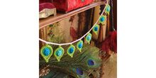 2016-01-11 Pop up Peacock feather stool cover 3