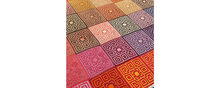 2021-02-14 Colorful Coral Mosaic Blanket 2