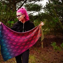 2021-03-26 Glowing Leaf Shawl 1