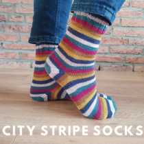 city stripe socks Scheepjes Downtown