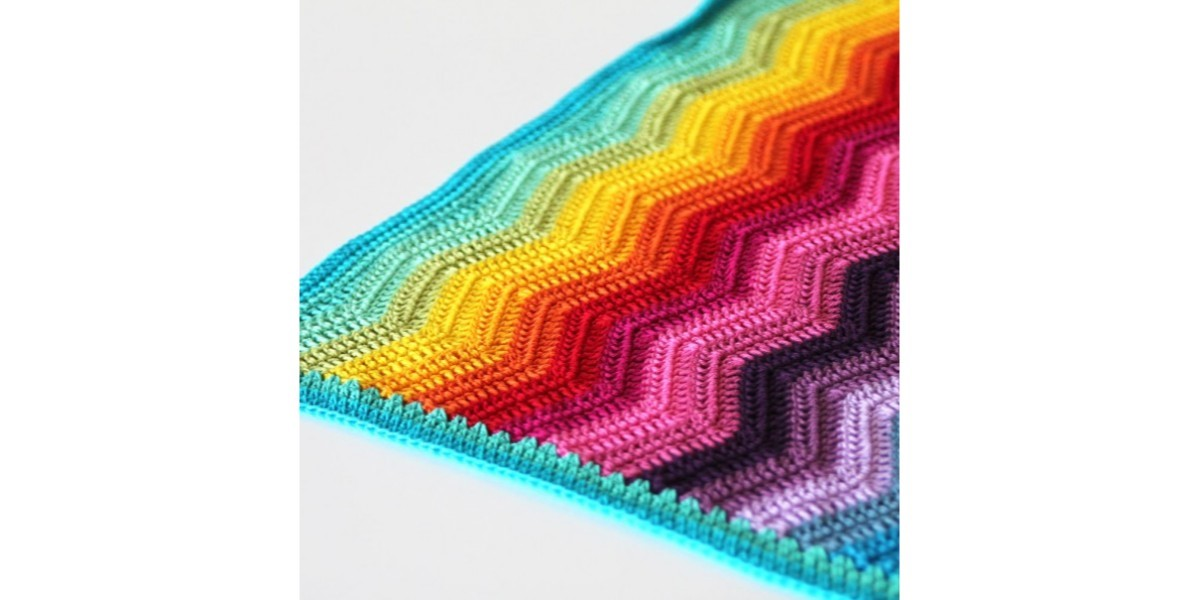 Rainbow Ripple Baby Blanket Van Cotton 8 Scheepjeswol