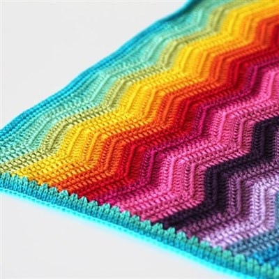 2016-01-02 Rainbow Ripple Baby Blanket