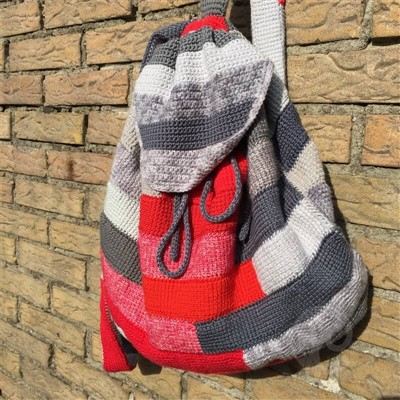 2016-04-07 Tunisian Crochet Backpack 1