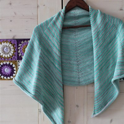 2016-03-24 Stripy Spring Shawl