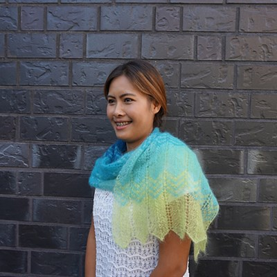 2016-10-11 Alpine Haze Shawl