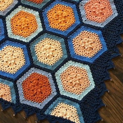 Autumn Blues Blanket