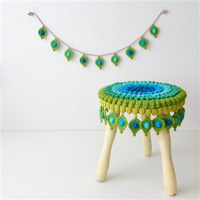 2016-01-11 Pop up Peacock feather stool cover 1