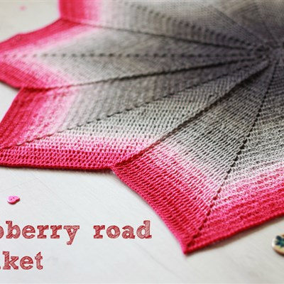 Raspberry road blanket