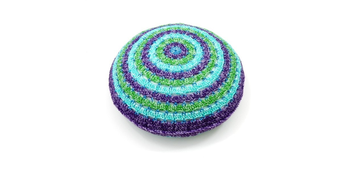 Round Cushion Cover Made Of Colour Crafter Velvet