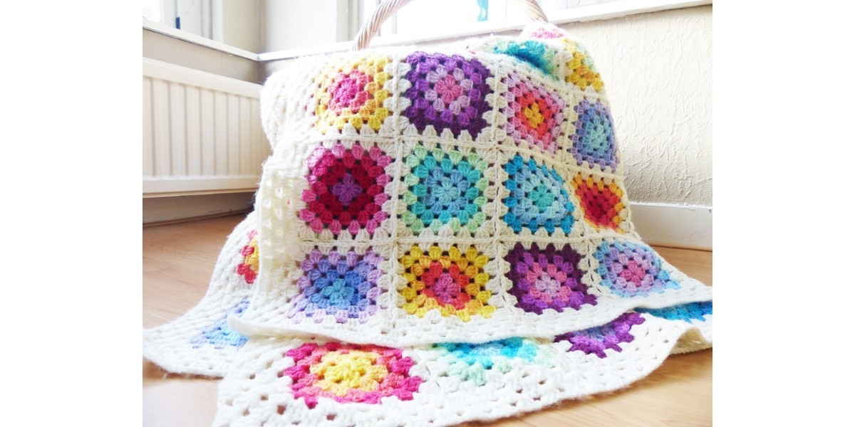Rainbow Granny Square Blanket Made Of Colour Crafter