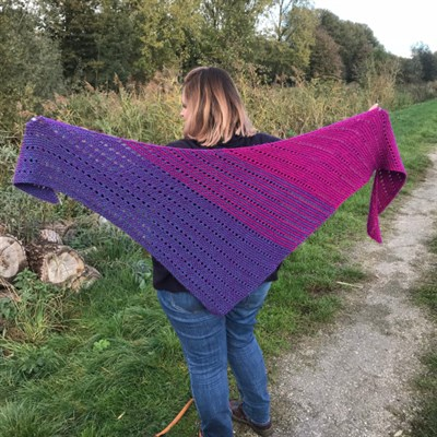 2018-11-09 Flat out fabulous shawl 2