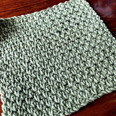 2018-08-01 Linen Stitch Washcloth 1