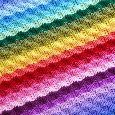 2015-02-23 Chaising Rainbows Blanket 1