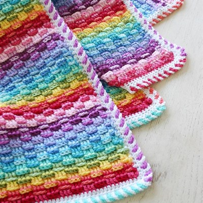 2014-08-09 Basket of Rainbows Blanket 1