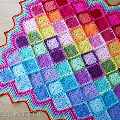 29-07-2014 Happy Harlequin Blanket 1