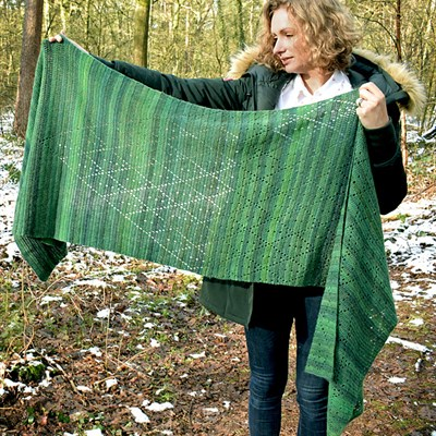 Fresh Leaves Shawl2