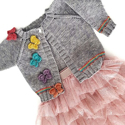 2020-07-19 Butterflies and Rainbows Cardigan 1